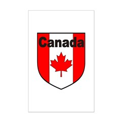 Canadian Flag Shield Posters