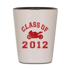 CO2012 Superbike Red Distressed Shot Glass