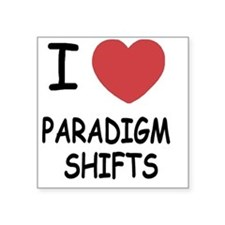 "PARADIGM_SHIFTS Square Sticker 3"" x 3"""