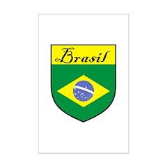 Brasil Flag Crest Shield Posters