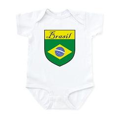 Brasil Flag Crest Shield Infant Bodysuit