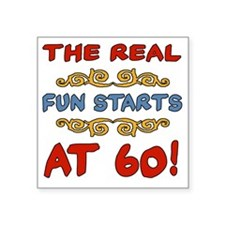 "RealFun60 Square Sticker 3"" x 3"""