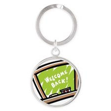 Welcome back Round Keychain