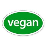 VEGAN Oval Decal