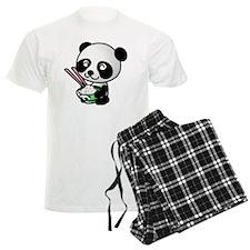 Panda Rice Black Pajamas