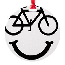 Smile Bike Black Ornament
