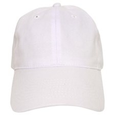 Swim Bike Run White Baseball Cap