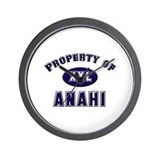 Property of anahi Wall Clock
