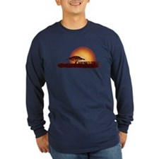 African Sunset - Cardinal Long Sleeve T-Shirt