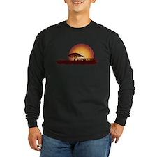 African Sunset - Cardinal Long Sleeve T-Shirt