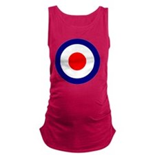 RAF Roundel Blue Maternity Tank Top