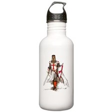 Templar Knight Red Water Bottle