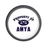 Property of amya Wall Clock