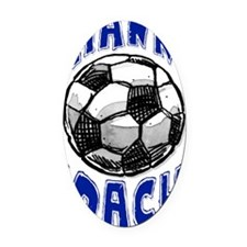 ThxSoccerCoach Oval Car Magnet