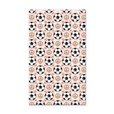 SoccerPLFlipFlopsCP Rectangle Car Magnet