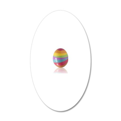 easter egg 20x12 Oval Wall Decal