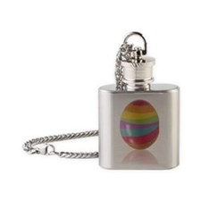 easter egg Flask Necklace