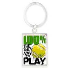 100PercentTennisCard Portrait Keychain