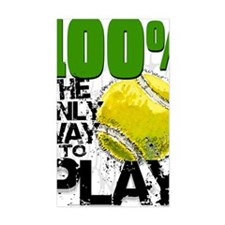 100PercentTennisCard Decal