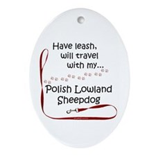 Polish Lowland Travel Oval Ornament