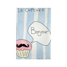 Le Cupcake Rectangle Magnet
