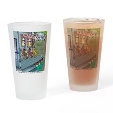 6755_denture_cartoon Drinking Glass