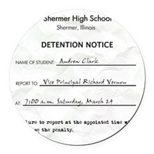 Detention andrew Round Car Magnet