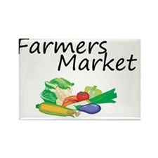 Farmers Market Rectangle Magnet