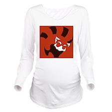Red Panda (solid ver Long Sleeve Maternity T-Shirt