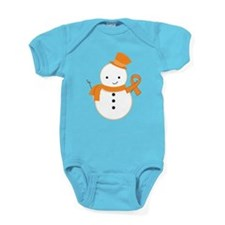 Multiple Sclerosis Snowman Awareness Baby Bodysuit