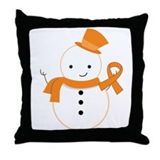 Multiple Sclerosis Snowman Awareness Throw Pillow