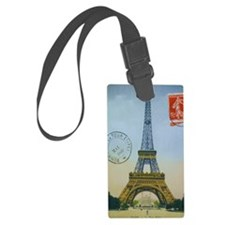 eiffelpostcardjournal Luggage Tag