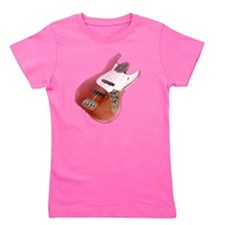 jazz bass distressed red Girl's Tee