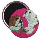 English Bulldog Pair Magnet