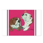 English Bulldog Pair Postcards (Package of 8)