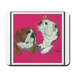 English Bulldog Pair Mousepad