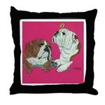 English Bulldog Pair Throw Pillow