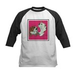 English Bulldog Pair Kids Baseball Jersey