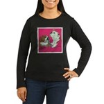 English Bulldog Pair Women's Long Sleeve Dark T-Sh