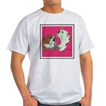 English Bulldog Pair Ash Grey T-Shirt