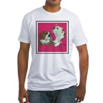 English Bulldog Pair Fitted T-Shirt