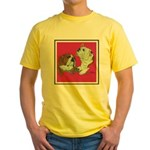 English Bulldog Pair Yellow T-Shirt