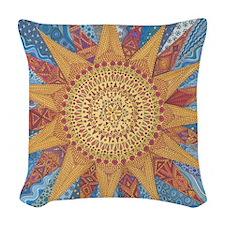 A Quilt of Sunshine Woven Throw Pillow