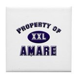 Property of amare Tile Coaster