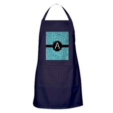 slider_monogram_damask_A_08 Apron (dark)