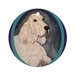 Relaxing English Setter Ornament (Round)