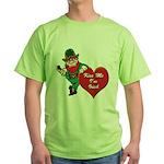 Masonic Valentine/St. Pats Day Green T-Shirt