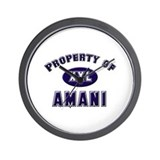 Property of amani Wall Clock