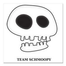 "teamSchmoopyRev Square Car Magnet 3"" x 3"""