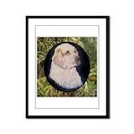 Clumber Spaniel Hunter Framed Panel Print